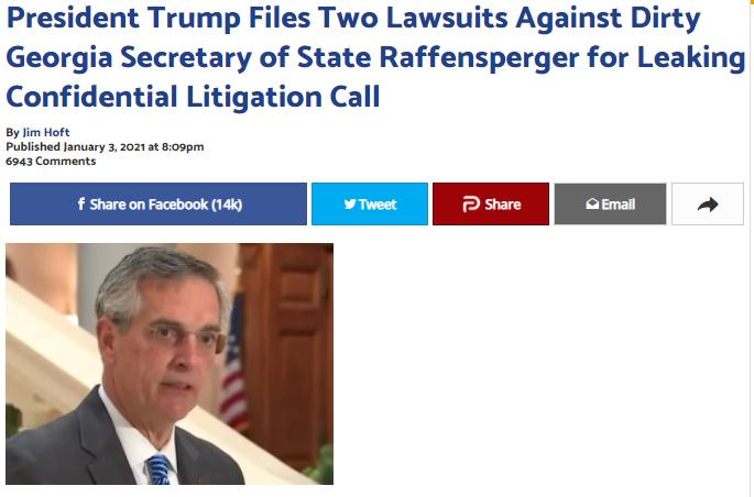 媒体对川普与拉芬斯帕格电话的报道是在撒谎